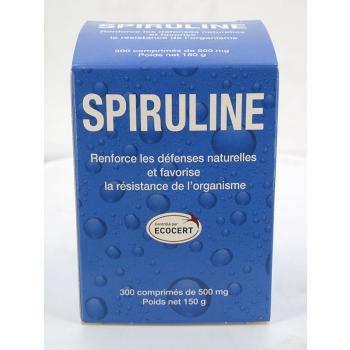 Spiruline - 300 comprimés de 500mg