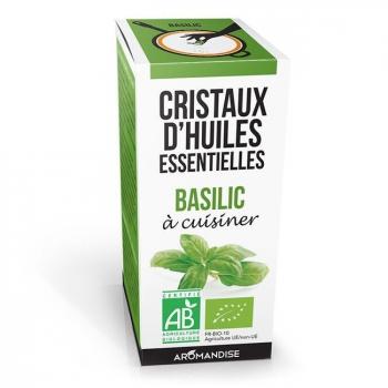 AROMANDISE - Cristaux d'huiles essentielles Basilic bio 10g