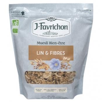 Muesli Croustillant Lin et Fibres 500g-Joseph Favrichon