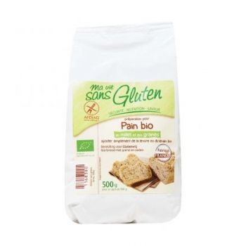 MA VIE SANS GLUTEN - Préparation pour pain bio au millet et aux graines bio & sans gluten