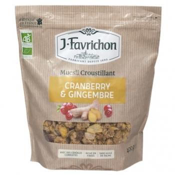 Muesli Croustillant Cranberry Gingembre 500g-Joseph Favrichon