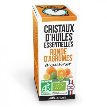 AROMANDISE - Cristaux d'huiles essentielles Ronde d'Agrumes bio 10g