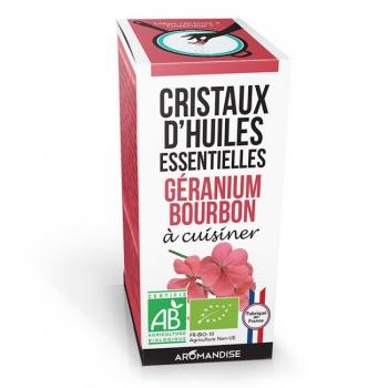 AROMANDISE - Cristaux d'huiles essentielles Géranium Bourbon bio 10g