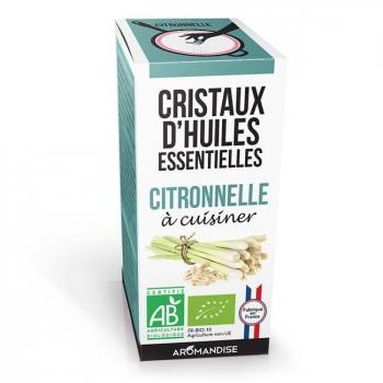 AROMANDISE - Cristaux d'huiles essentielles Citronnelle bio 10g