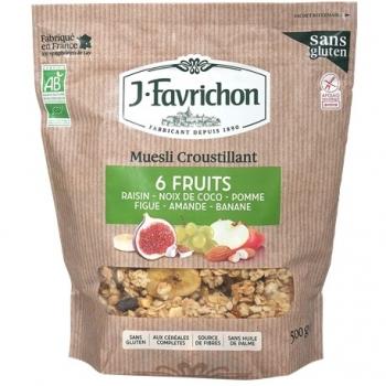 Muesli Croustillant 6 Fruits 400g-Joseph Favrichon