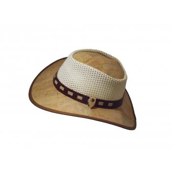 Chapeau en liège avec doublage en cuir