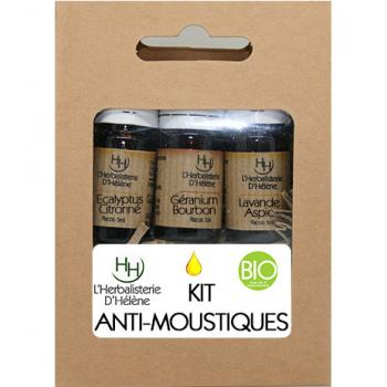 Kit Huiles Essentielles Anti-Moustiques, 3 flacons 5ml, L'Herbalisterie D'Hélène