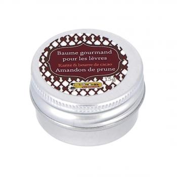 Baume à lèvres gourmand Karité, beurre de cacao & amandon de prune, 15 g