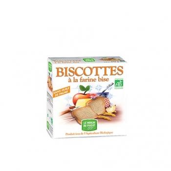 Biscottes Bio à la Farine Bise 270g-Le Moulin du Pivert