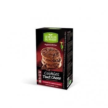 Cookies Tout Choco Bio 175g-Le Moulin du Pivert