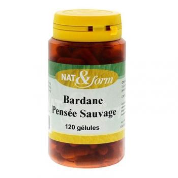 Bardane Pensée Sauvage - Beauté de la peau - 120 gélules