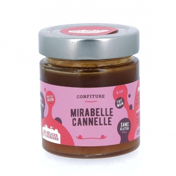 Confiture Mirabelle Cannelle bio, 225 g