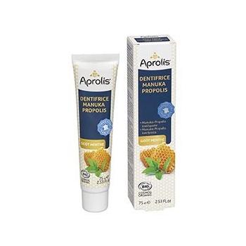 Dentifrice Manuka-Propolis goût menthe 75ml Bio - Aprolis