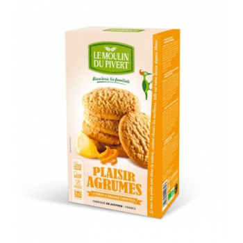 Biscuits Plaisir Agrumes Citron et Orange confits bio & équitable