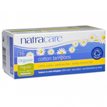 Tampons Coton Naturel Regular avec Applicateur - x16 - Natracare