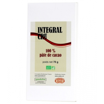Intégral cru Bio Pâte de cacao 100%