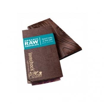 Tablette de Chocolat Cru aux Feves Douces et Sel Marin - Lovechock