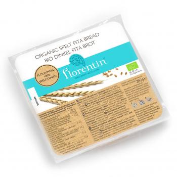 Pain Pita Epeautre Bio 260g (sachet de 4 pains) - Florentin