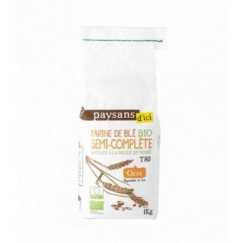 PAYSANS D'ICI - Farine de blé semi complète T80 bio & équitable