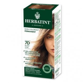 Coloration Cheveux Naturelle 7D Blond Doré - 150ml - Herbatint