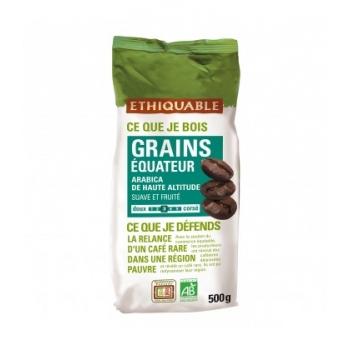 ETHIQUABLE - Café équateur GRAINS bio & équitable - 500 g