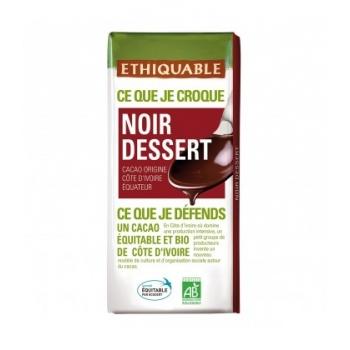 ETHIQUABLE - Chocolat Noir dessert bio & équitable