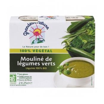 Mouliné de légumes verts bio & sans gluten, 2 x 25 cl