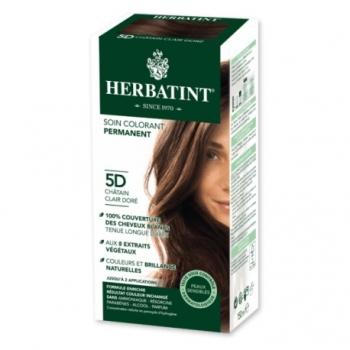 Coloration Cheveux Naturelle 5D Châtain Clair Doré - 150ml - Herbatint