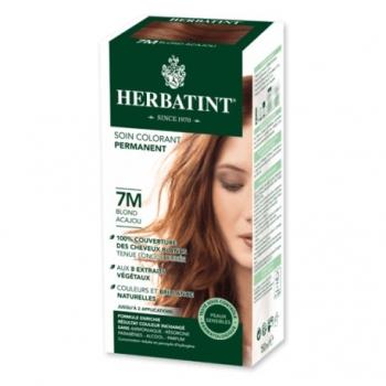 Coloration Cheveux Naturelle 7M Blond Acajou - 150ml - Herbatint
