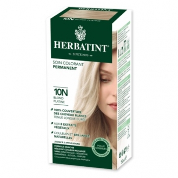 Coloration Cheveux Naturelle 10N Blond Platine - 150ml - Herbatint
