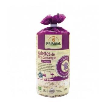 PRIMEAL - Galettes de Riz de Camargue au Sésame bio & sans gluten