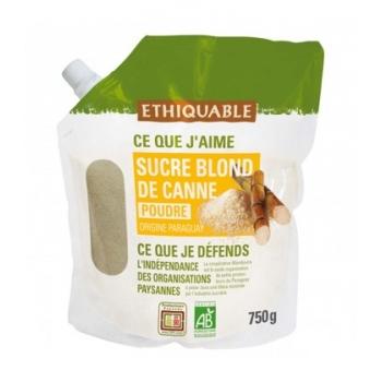 ETHIQUABLE - Sucre blond de canne non raffiné bio & équitable