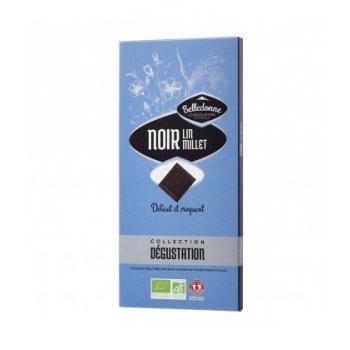 BELLEDONNE - Chocolat noir 57% lin & millet bio & équitable