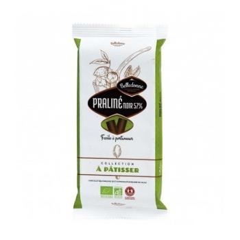 BELLEDONNE - Chocolat praliné noir 57% à pâtisser bio & équitable