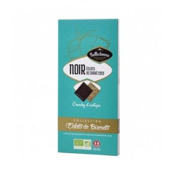 BELLEDONNE - Chocolat noir 57% éclats de biscuit carré coco bio & équitable
