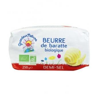 Beurre demi-sel de baratte biologique