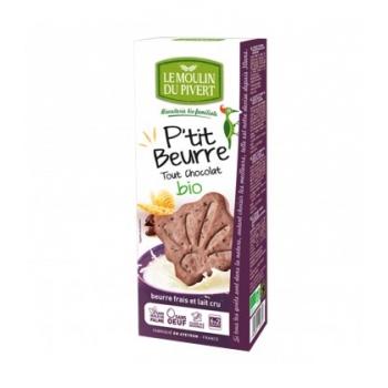 LE MOULIN DU PIVERT - Biscuits P'tit beurre tout chocolat bio & équitable