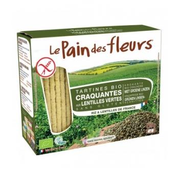 LE PAIN DES FLEURS - Tartines craquantes aux lentilles vertes bio & sans gluten
