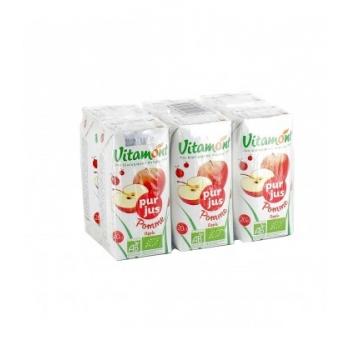Pur jus de pomme bio - Pack de 6 mini briques