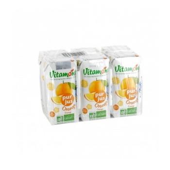 VITAMONT - Pur jus d'orange bio - Pack de 6 mini briques