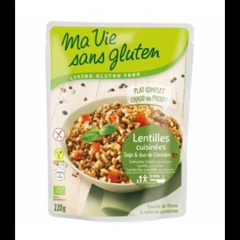 PROMO DÉCOUVERTE - Lentilles cuisinées, soja et duo de céréales bio & sans gluten