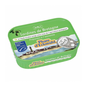 PHARE D'ECKMÜHL - Sardines de Bretagne à l'huile d'olive vierge extra bio