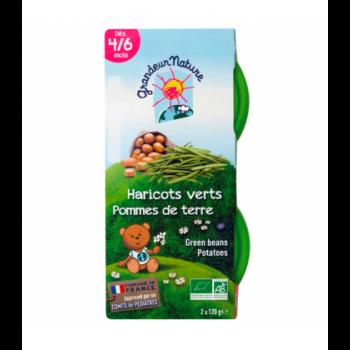 Purée haricots verts & pomme de terre pour bébé bio