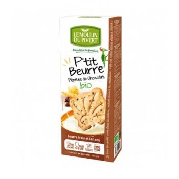 LE MOULIN DU PIVERT - Biscuits P'tit beurre pépites de chocolat bio