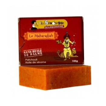 """LA SAVONNERIE BOURBONNAISE Savon """"Le Maharadjah"""" au patchouli & huile de sésame 100% bio"""