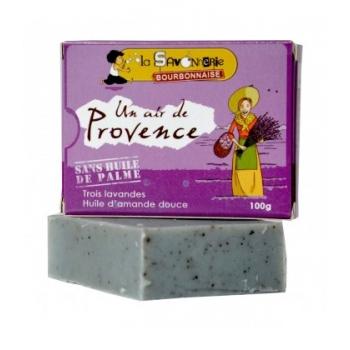"""LA SAVONNERIE BOURBONNAISE Savon """"Un Air de Provence"""" aux trois lavandes & huile d'amande douce 100% bio"""