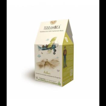Capsules biodégradables de café bio ARTHUR x15