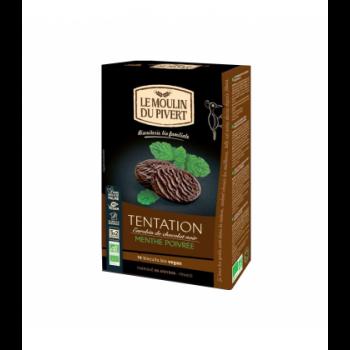 Biscuits Tentation au chocolat noir et menthe poivrée vegan, bio & équitable