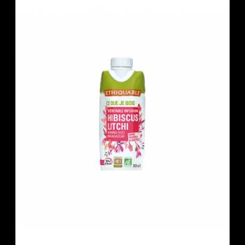 Infusion glacée hibiscus litchi bio & équitable