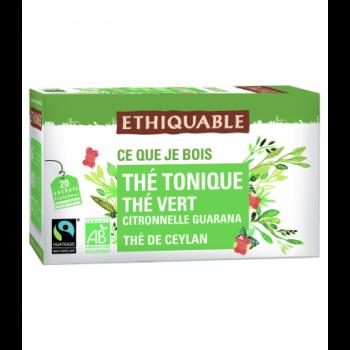 Thé vert tonique au guarana bio & équitable